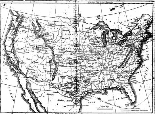 """U.S. map ca. 1892 - """"---•••-'«*"""" Bfi&ns )u ,, ml ,i, PROPOSED..."""