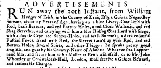 The Post Boy (London, ) 23 January 1717 Page 2 - ADVERTISEMENTS. U N away the 3oth lr.ftant,...