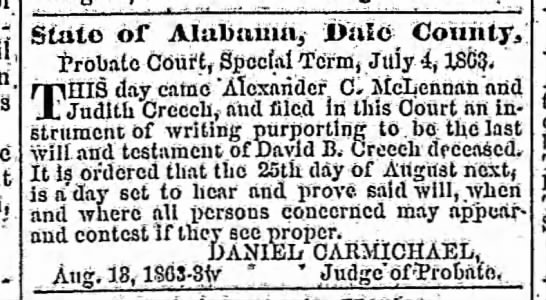 The Troy Messenger (Troy, Alabama) 12 Aug 1863, Wed Page 2