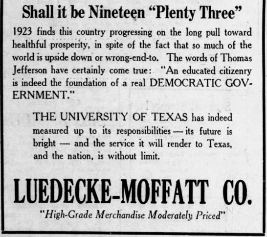 """An educated citizenry is the foundation of a democratic government"" (1923). -"