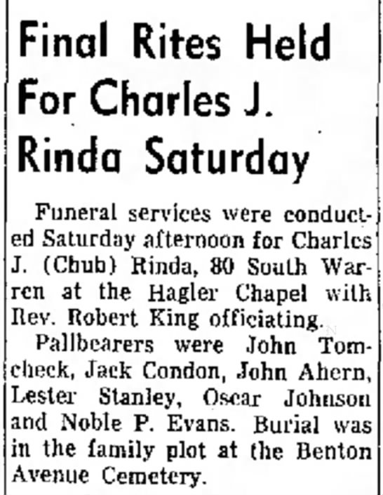 Charles J. Rinda Funeral Services -