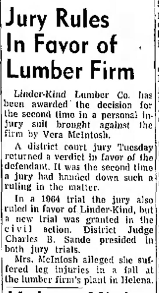 Jury Rules in Favor of Lumber Firm -