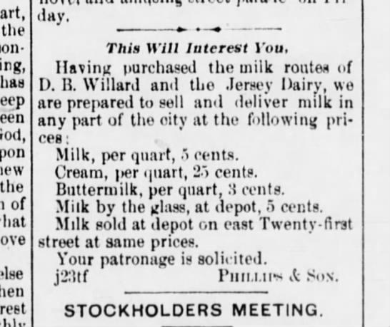 willard dairy -