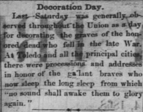 Decoration Day 1868 -
