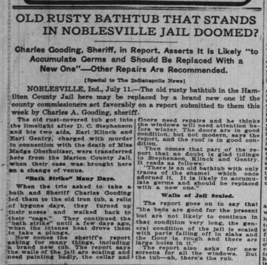 Charles Gooding, Sheriff -