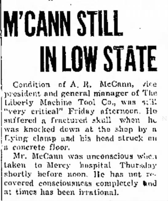 Mcann Still In Low State Liberty Machine Co -