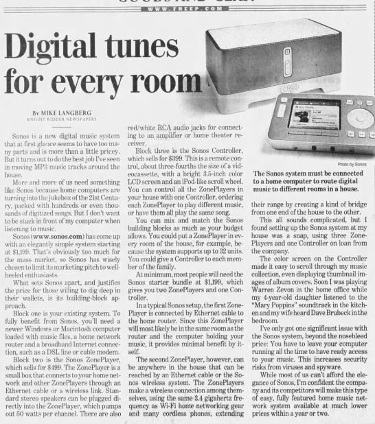 digital tunes for every room -