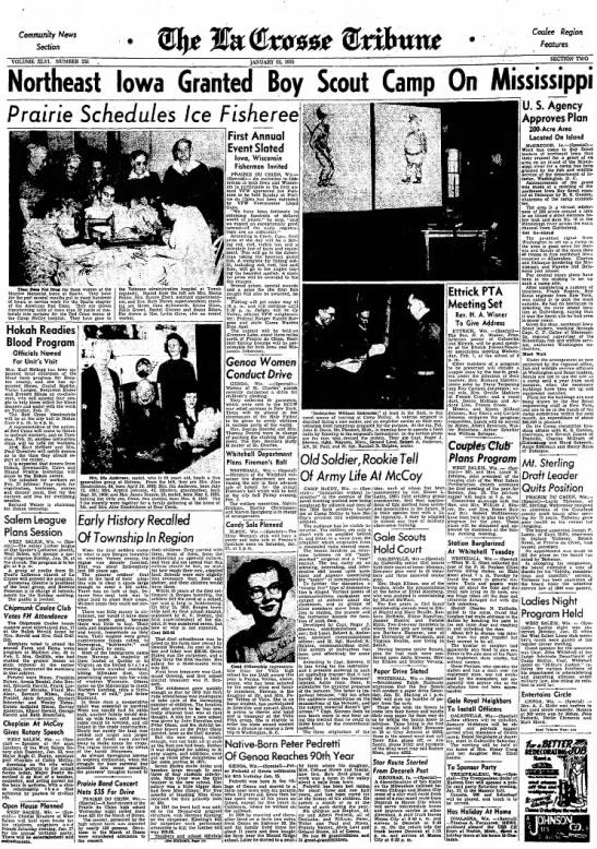 Gudmund Ostreng LaCrosse Tribune 1951 -