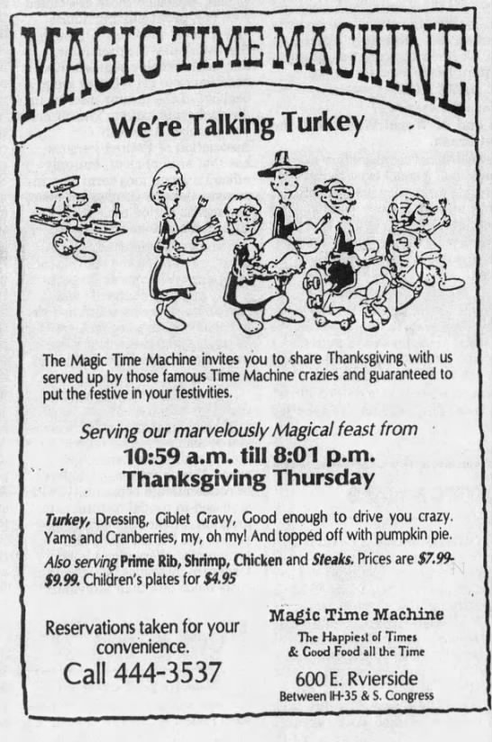 Magic Time Machine - We're Talking Turkey - Austin -