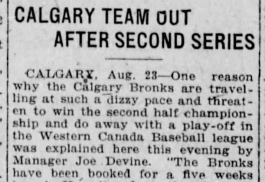 - CALGARY TEAM OUT AFTER SECOND SERIES CAIXJARjf....
