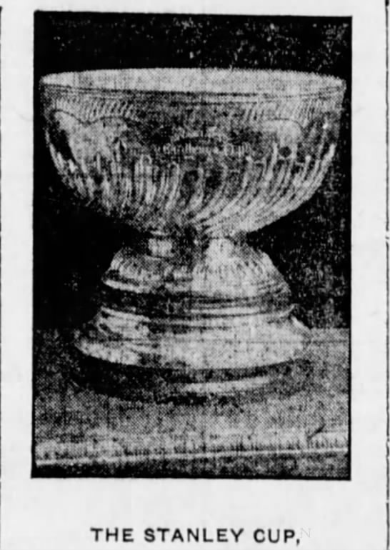 The Stanley Cup as of the 1907 hockey season -