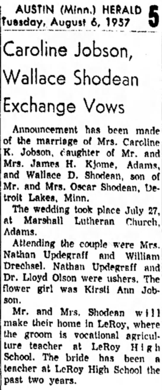The Austin Daily Hearld 6 August 1957 -