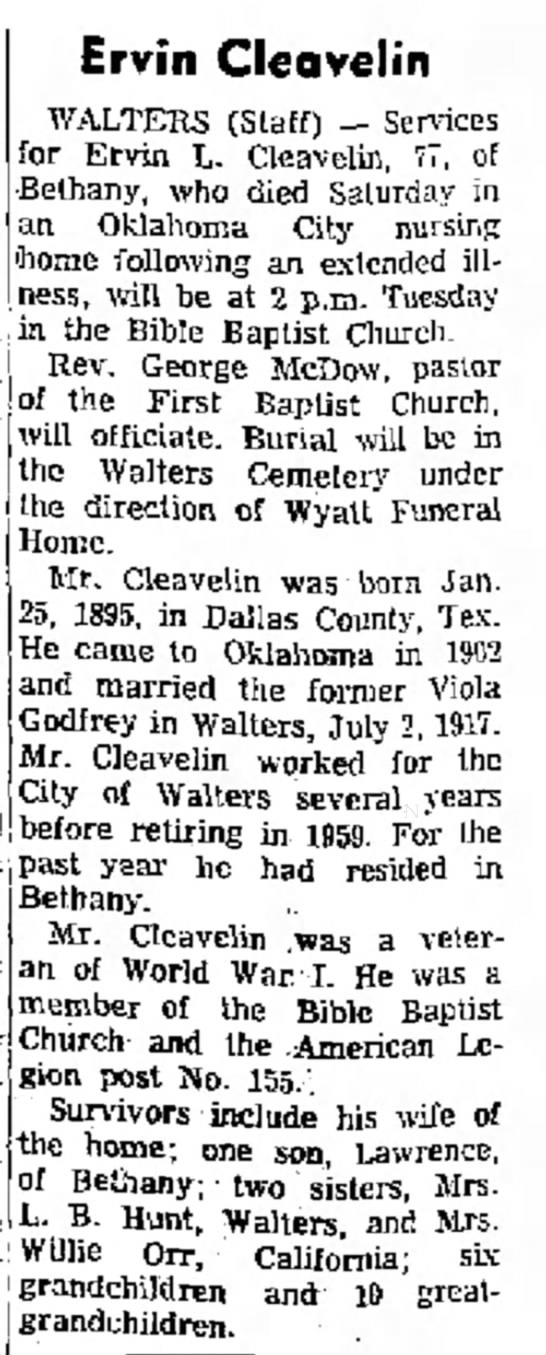 Ervin Cleavelin Lawton Constitution 31 Jan 1972 -