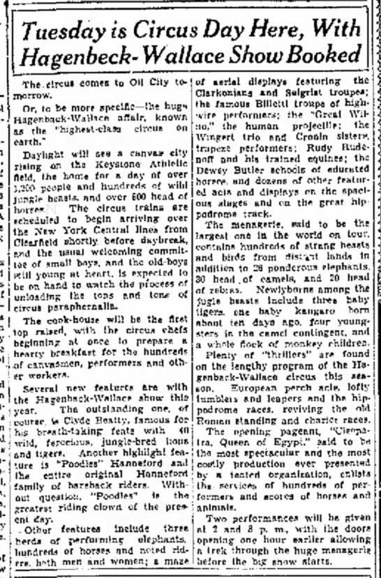 Billetti - June 27, 1932 - The Oil City Derrick - Oil City, PA -