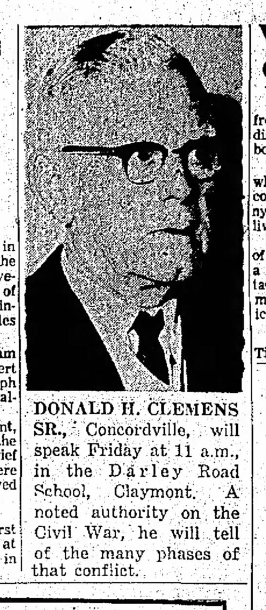 Granddad Clemens speaking on Civil War -