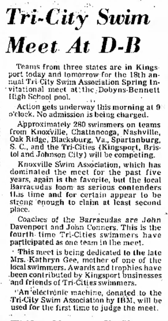 1975 tri city swim meet db -