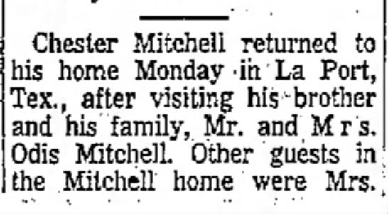 - Welsh Chester Mitchell returned to his home...