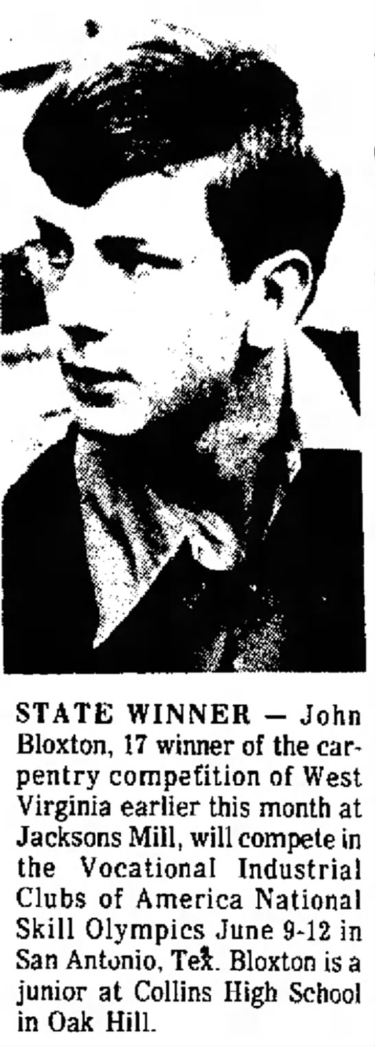 Charleston Daily Mail (WV) - May 25, 1974, Pg 3 - John B (17) State Winner -