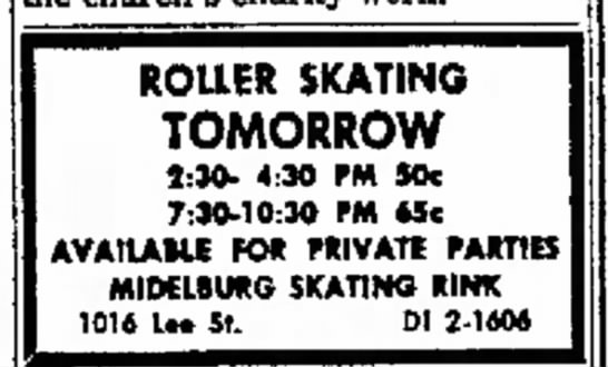 Roller Skating Tomorrow - Middleburg Skating Rink -