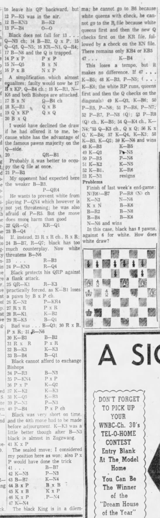 Chess by G.E. Avery Column 2 -