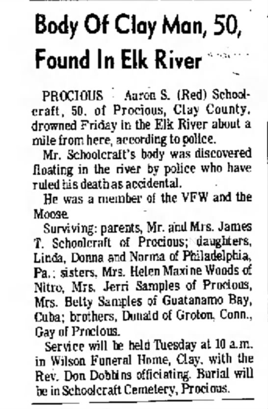 Aaron Schoolcraft - Body Of Clay Man, 50, Found In Elk River...