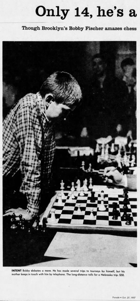 Only 14, he's a chess whiz (Column 1) -