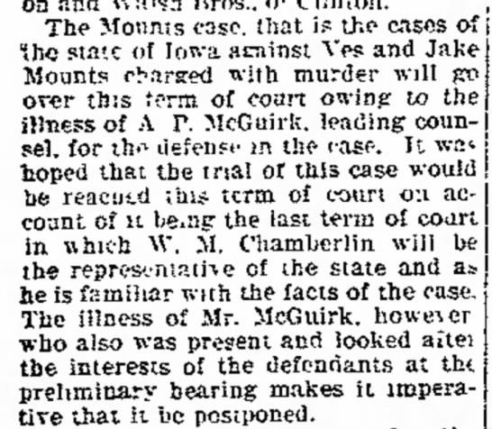 Mounts case -