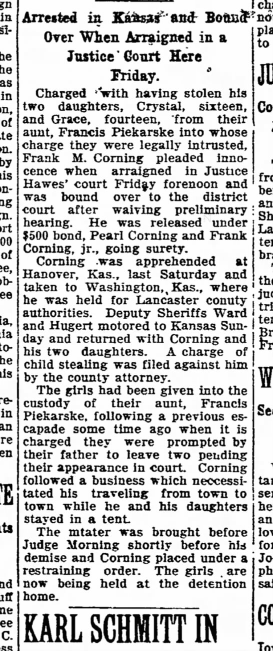 Lincoln Evening Journal Lincoln, Nebraska 24 October 1924 -