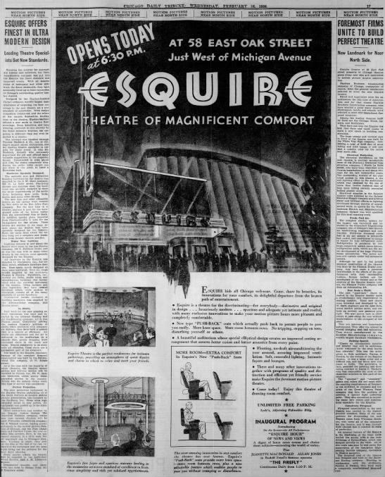Esquire theatre opening -
