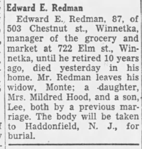 656fa879e88 Edward E Redman - Newspapers.com