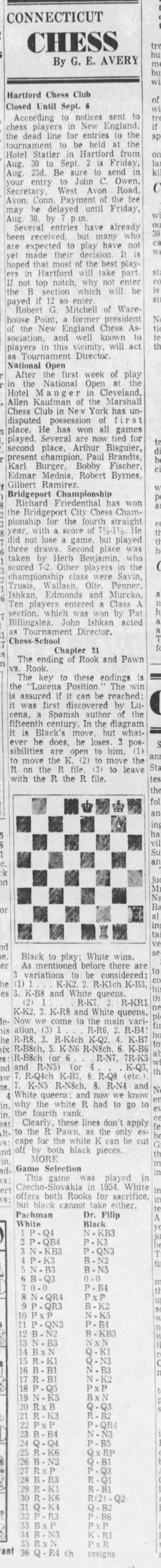 Connecticut Chess by G.E. Avery -