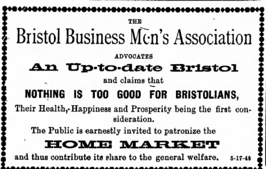 Bristol Business Men's Association 5/24/1906 -