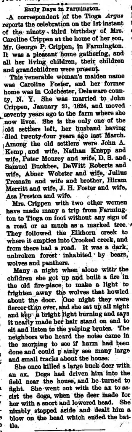 lists asa preston as one of the first settlers of Farmington township -