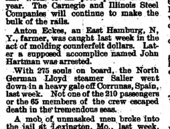 Wellsboro (PA) Gazette, Dec 16, 1896 -