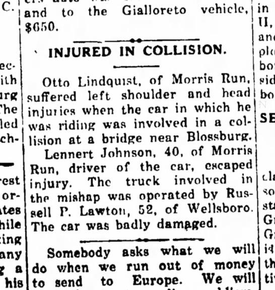 !0 March 1948 Wellsboro Pa. -