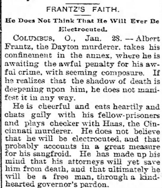 28 January 1897 Piqua Daily Call (OH) -