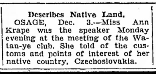 - 3. Describes Native Land. OSAGE, Dec. 3.--Miss...