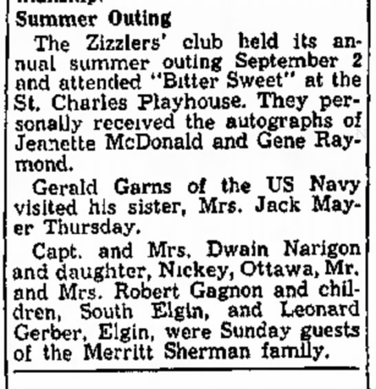 The Daily Harold, Chicago, Ill Sept 9,1954, page 51 -