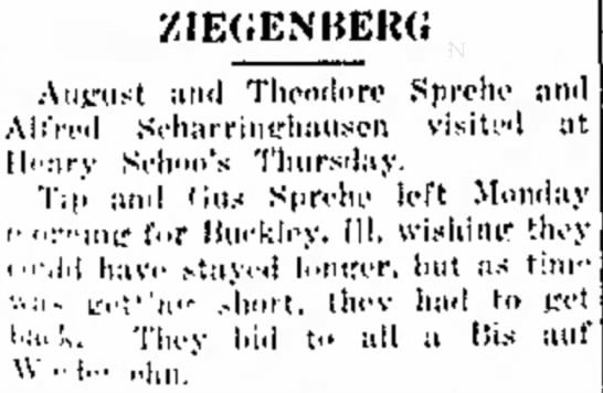 August and Theodore Sprehe trip -