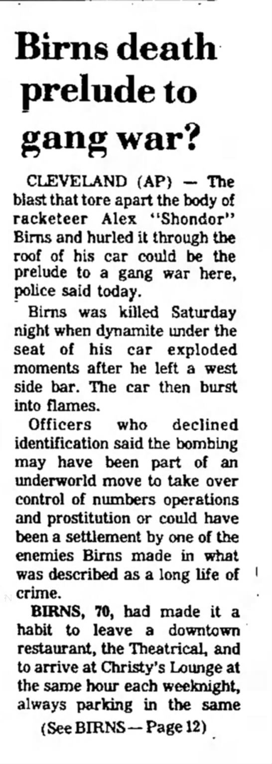 Birns 1 of 2 2 with Chief Louis Westerburg The Evening Independent Massillon OH March 31, 1975 -