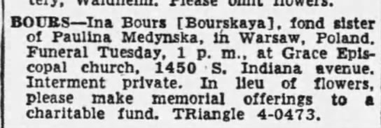 Ina Bourskaya (Bours( 1954 -