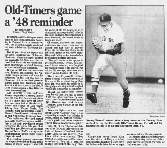 Old-Timers game a '48 reminder -