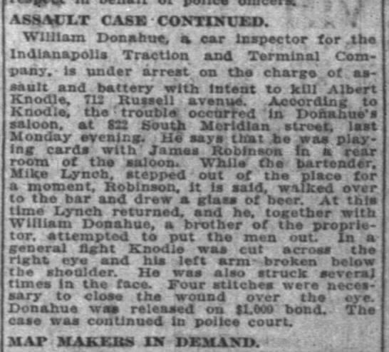 William F. Donahue - . ASSACXT CASK CONTINUED. . V William Donahue,...