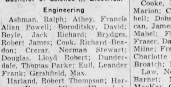 Lea Eull - engineering - Engineering Ashman, Ralph; Athey, Francis Allan...