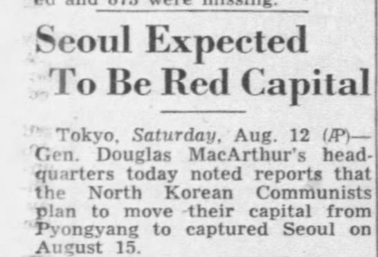 Seoul Falls to North Korea - Seoul Expected To Be Red Capital r Tokyo....