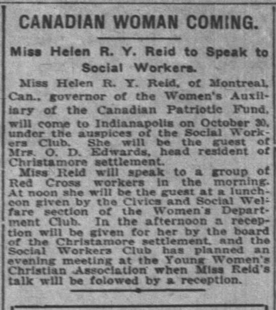 Canadian Woman Coming (Helen R. Y. Reid) 1917 -