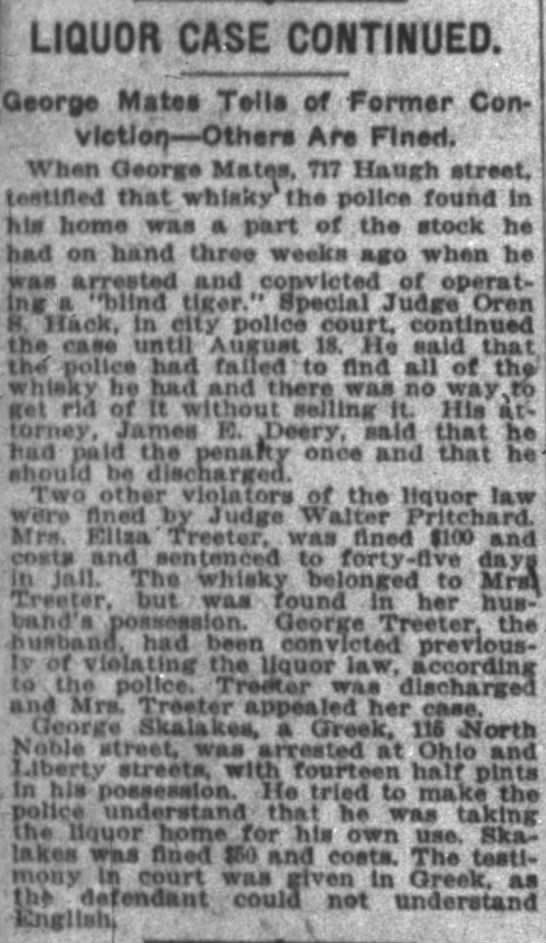 The Indianapolis News August 9, 1919 Aunt Lide and Uncle George -
