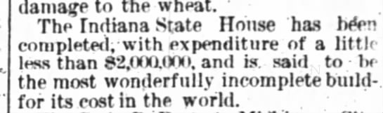 Cost--Waterloo Press, IN 8-8-1885 -