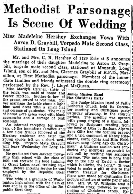 Aaron D Graybill marriage to 