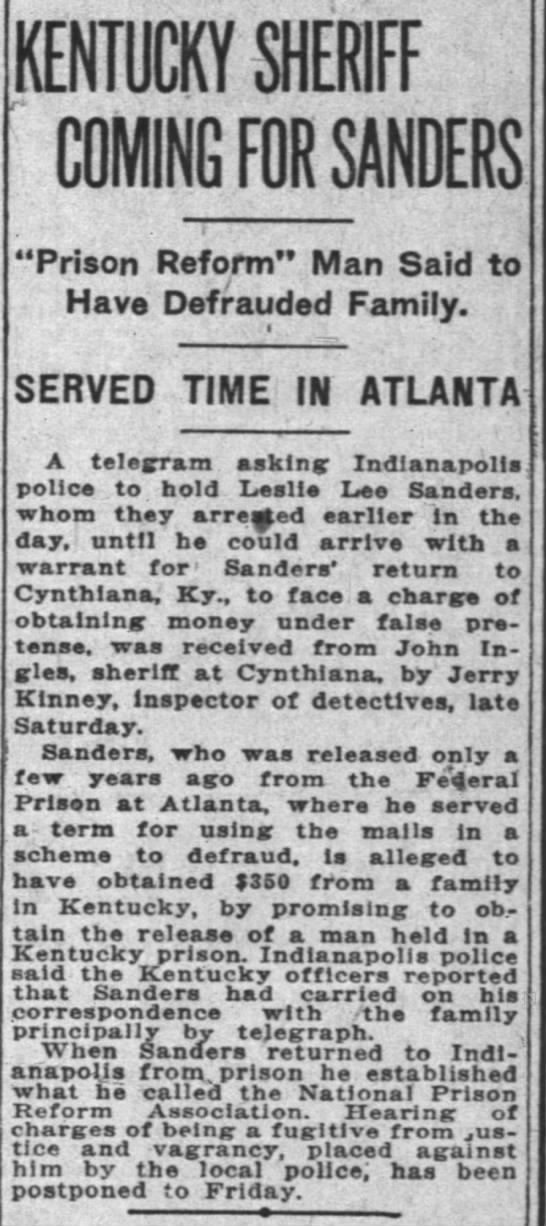 Indianapolis News 29 December 1924 page 17 -